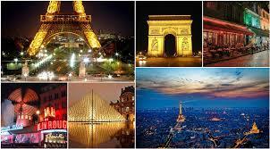 Paris Collage France City Travel Montage
