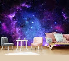 platz starfield kinder tapete schlafzimmer aufkleber lila kinderzimmer decke foto tapete wandbild selbst klebstoff exklusives design fototapete