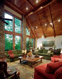 Impressive Green Sofa Mode Atlanta Rustic Living Room Decorators With Fabric Upholstery Great Persian Rug Large Windows
