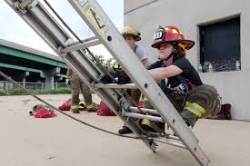 100 Two Men And A Truck Cedar Rapids Young Women Learning The Ropes Of Firefighting At