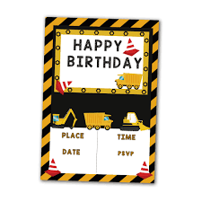 20PCS Construction Trucks Theme Invitations Card Birthday Party ... Dump Truck Birthday Party Ideas B82 Youtube Cstruction Party Free Printable Signs Decorations Favors Dump Gifts Here Sign Diy Instant Download Cstruction Favors Boys Pinterest 100 Monster Jam Supplies Trucks Paper Plates Birthday Cstruction Candy Bar Fab Everyday Because Life Should Be Fabulous Www Image Inspiration Of Cake And Invitation Digger Best 25 Parties Ideas On