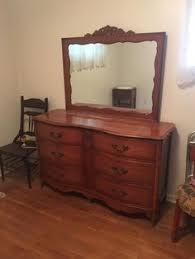 Tiger Oak Serpentine Dresser by Antique Tiger Oak Serpentine Tall Dresser Highboy With Mirror