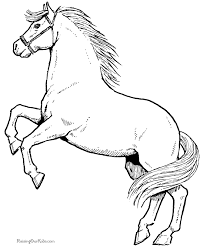 Free Coloring Pages Of Horses Lezardufeu