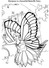 Barbie Mariposa Is A Beautiful Butterfly Fairy Colouring Page