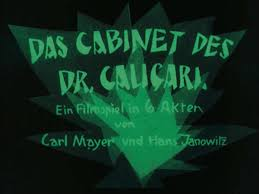 Cabinet Of Dr Caligari 1962 by The Cabinet Of Dr Caligari 1921 Dir By Robert Wiene Cinema