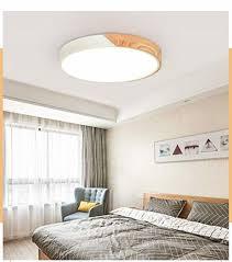 36w led deckenleuchte ledflurle runde deckenle wohnzimmer holz metall dimmbar mit fernbedienung energieklasse a