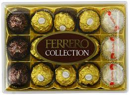 Ferrero Rocher Christmas Tree 150g by Pralines And Truffles Amazon Co Uk