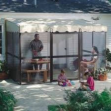 Patio Mate 10 Panel Screen Enclosure by Patiomate 9165 10 Panel Screened Room Chestnut Frame With Almond