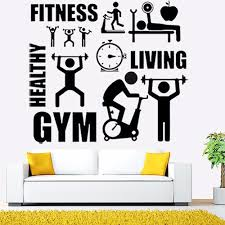Wall Mural Decals Cheap by Online Get Cheap Gym Sticker Wall Aliexpress Com Alibaba Group