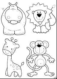 Jungle Animal Coloring Pages Esl Animals Worksheets Book Tiger