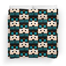 Minecraft Bedding Twin by Dantdm Duvet Covers Redbubble
