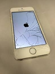Apple Iphone 5s 16gb Silver t mobile Cracked Screen
