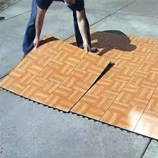Temporary Outdoor Flooring Tap Dance Floor Kit 9 Tiles Floating Over Carpet For