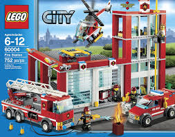 Amazon.com: LEGO City Fire Station 60004: Toys & Games