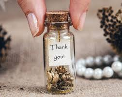 Gold Wedding Favors Thank You Bottle Winter Favor Personalized Guest Gift