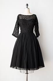 Chic Black Vintage Dress With Soutache Perfect Cut