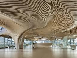 100 Wood Cielings Undulating Wood Ceilings Of One Main Office Renovation