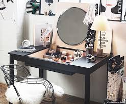 coiffeuse bureau transformer une table en bureau coiffeuse convertible