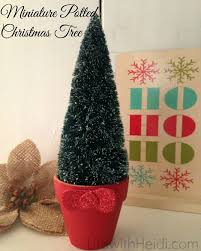 Potted Christmas Tree by Miniature Potted Christmas Tree