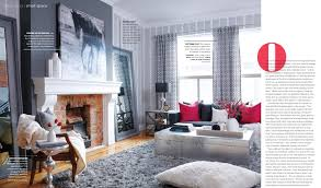 Black Grey And Red Living Room Ideas by Grey Matters Red Pops Interiors By Color