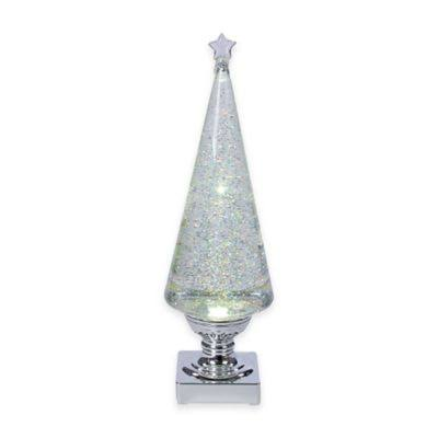 "Kurt Adler Lava Light Tree - 14"", Battery Operated, Clear and Silver"