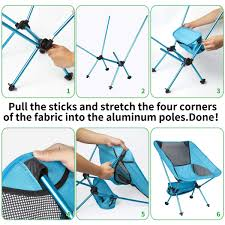 OIKA Camping Chairs For Adults Outdoor Recreation Beach ...