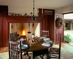 Inspired Magnolia Leaf Wreath In Dining Room Farmhouse With British Colonial Home Decor Next To Contemporary Centerpiece