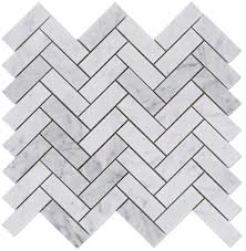 free shipping carrara bianco polished 1x3 herringbone marble