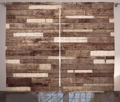 abakuhaus hölzern rustikaler gardine brown bauernhaus stil schlafzimmer kräuselband vorhang mit schlaufen und haken 280 x 260 cm braun
