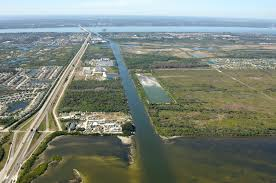 canaveral barge canal harbor in merritt island fl united states
