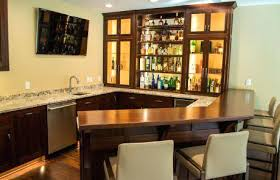 Built In Bar Cabinets Like Our Custom Hardwood See Kitchen And