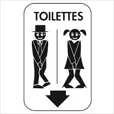 stickers toilettes pour porte et mur de wc homme femme decorecebo