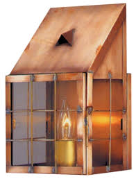 saltbox electric colonial copper lantern wall sconce