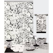 Black And White Flower Shower Curtain by Modern Black And White Shower Curtain Best Home Decor Inspirations