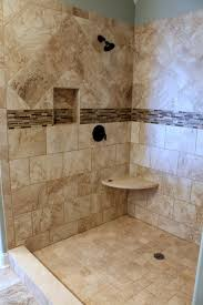 vertical accent tile in shower bathroom bianco carrara marble