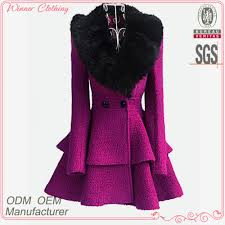 2015 winter women u0027s coat fancy bodysuit big fur collar shift flare