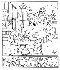 View And Print This Hidden Pictures Feeding Horse Get Your Free Pages At All Kids Network