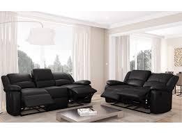 canape cuir relaxation ensemble de canapés relaxation 3 places et 2 places simili cuir