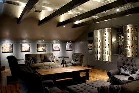 indirect led up lighting craftsman living room houston by