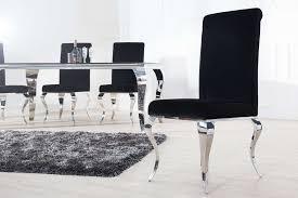 design stuhl barock esszimmerstuhl 2er set schwarz silber