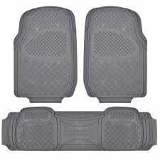 100 Heavy Duty Truck Floor Mats BDK All Weather MT713 Gray 3Piece Car Or SUV Or