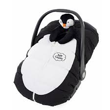 4moms Bathtub Babies R Us by Petit Coulou Car Seat Cover Pinglou Black And White Penguin