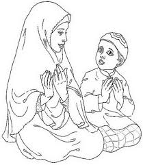 Muslim Girl Coloring Pages For Kids