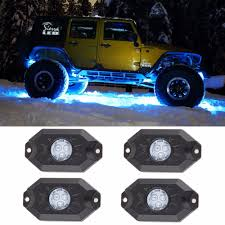 4pcs 12v 9w Led Rock Light Waterproof Off Road LED Rock Light Kit ... Poppap 300w Light Bar For Cars Trucks Boat Jeep Off Road Lights Automotive Lighting Headlights Tail Leds Bulbs Caridcom Lll203flush 3 Inch Flush Mount 20 Watt Lifetime 4pcs Led Pods Flood 5 24w 2400lm Fog Work 4x 27w Cree For Truck Offroad Tractor Wiring In Dodge Diesel Resource Forums Best Wrangler All Your Outdoor 145 55w 5400 Lumens Super Bright Nilight 2pcs 18w Led Yitamotor 42 400w Curved Spot Combo Offroad Ford Ranger