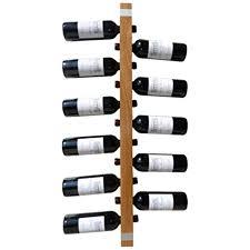weinregalo ulme das moderne design weinregal flaschenregal aus holz für ihre wand flaschenregal für 11 weinflaschen 100 x 5 x 5 cm dekorativ für
