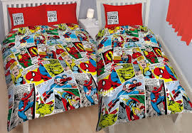 Spiderman Twin Bedding by Marvel Comics Justice Single Double Duvet Cover Bed Set Bedding