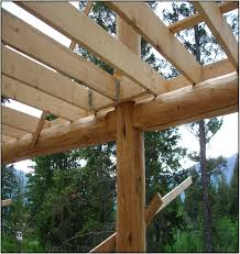 Deck Joist Hangers Nz by Round Hand Peeled Log Post And Bearing For 2x Deck Joists Keep