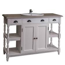 badezimmerschrank weiß mit gedrechselten beinen im landhausstil