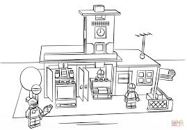 Lego Fire Station Coloring Page | Free Printable Coloring Pages