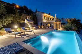 steinvilla mit pool direkt am meer insel brac ferienhaus